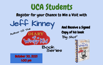 Enter for a Chance to Visit with Jeff Kinney