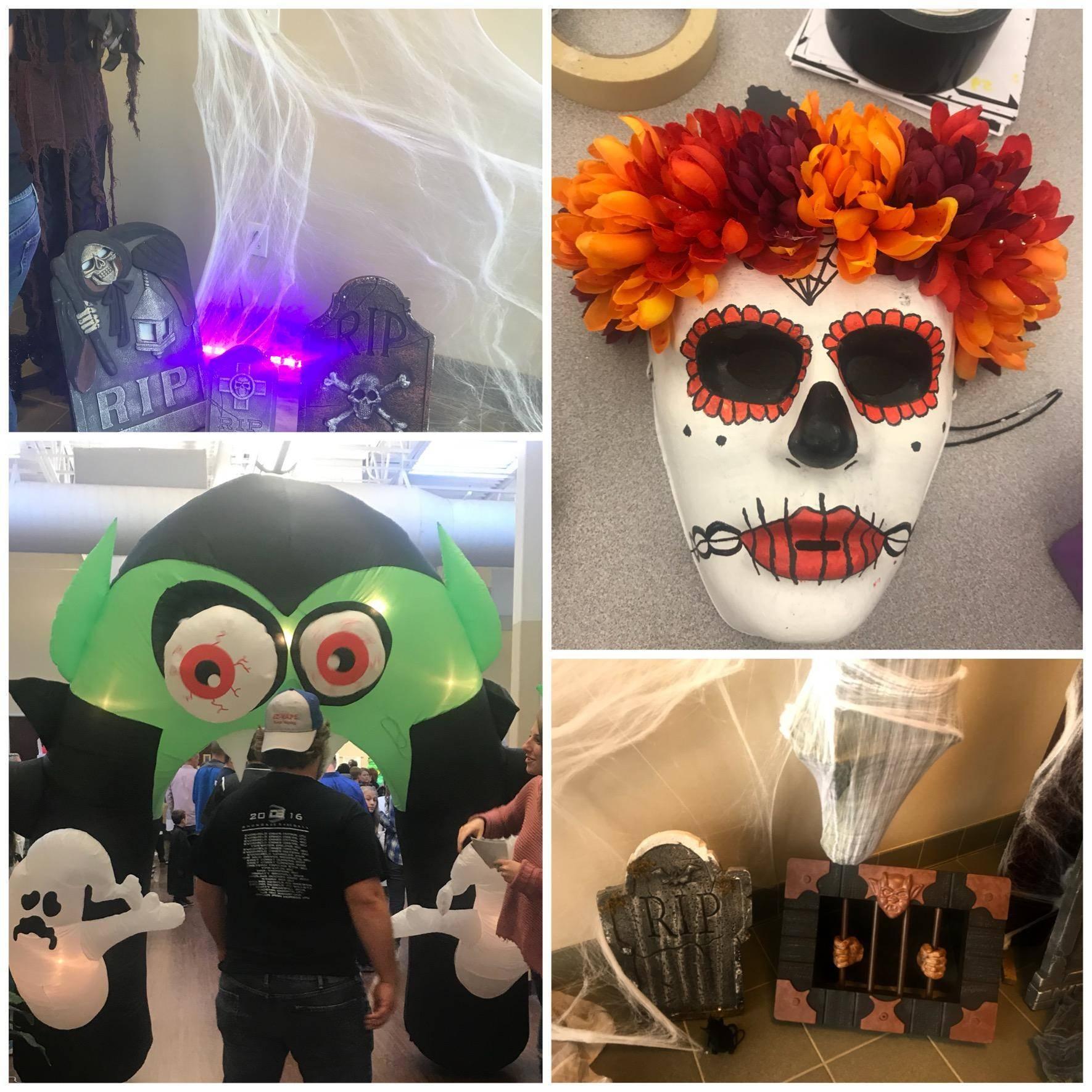 4 Photos of a holloween party