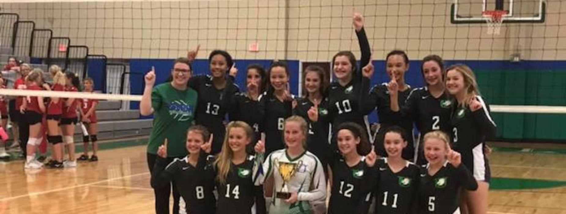 Middle School 2019 Volleyball Champions