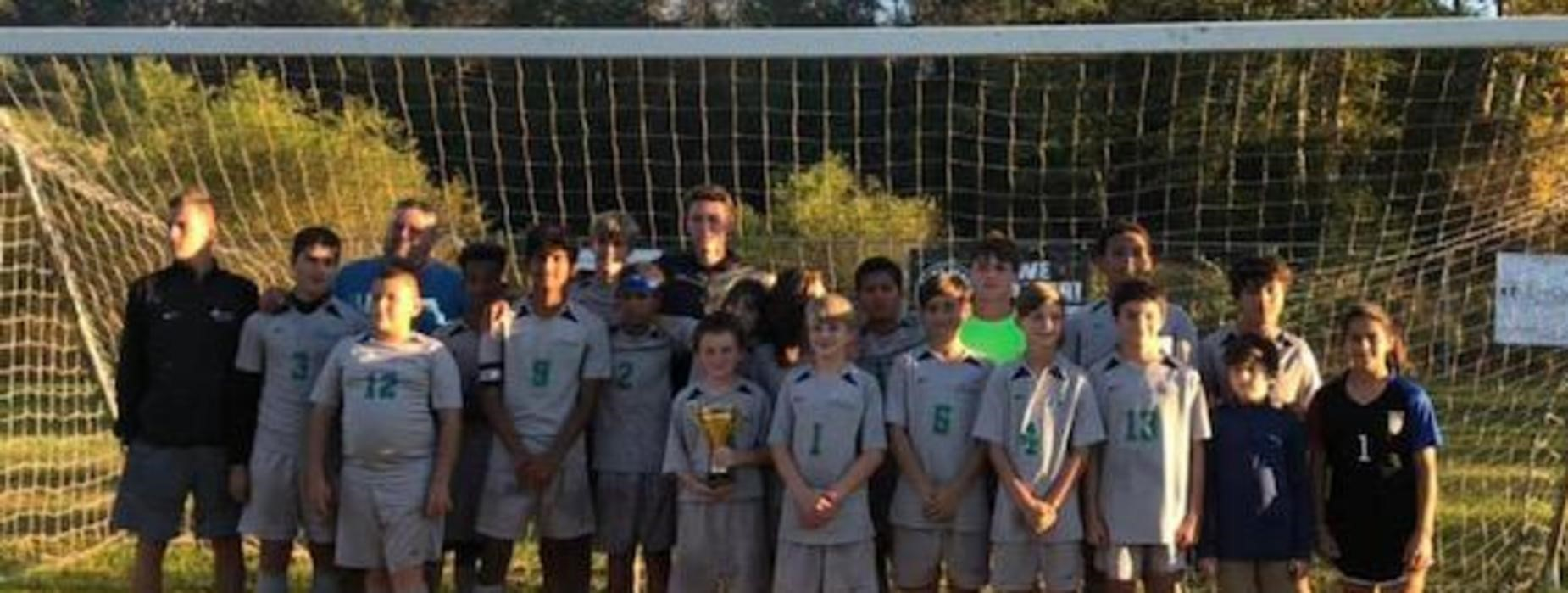 Middle School 2019 Boys Soccer Champions