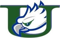 school logo, depicts an eagle inside the letter U